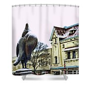 Guard Pigeon And Liberty Theater Shower Curtain