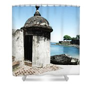 Guard Post Castillo San Felipe Del Morro San Juan Puerto Rico Diffuse Glow Shower Curtain