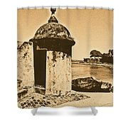 Guard Post Castillo San Felipe Del Morro San Juan Puerto Rico Rustic Shower Curtain