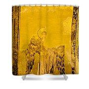 Guardian Angel Byzantine Art Shower Curtain by Artur Bogacki