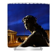 Guardian Angel Of Art Shower Curtain by Paul Ward
