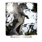 Guardian Angel With Light From Above Shower Curtain