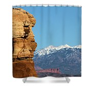 Guardian Of Arches Shower Curtain