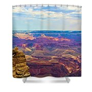 Guardians Of The Canyon Shower Curtain