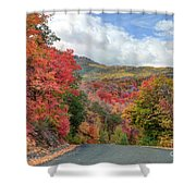 Guardsman Pass To Midway In The Fall - Utah Shower Curtain
