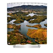 Guatape Shower Curtain