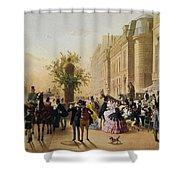 Guerard: Cafe Tortoni, 1856 Shower Curtain