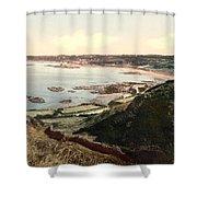 Guernsey - Rocquaine Bay - Channel Islands - England Shower Curtain
