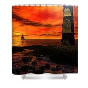 Guiding Light - Lighthouse Art Shower Curtain