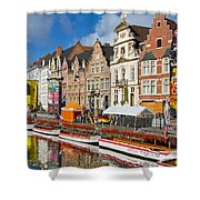 Guild Houses Shower Curtain