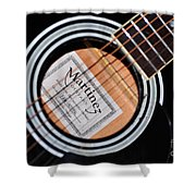 Guitar Abstract 1 Shower Curtain