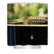 Guitar Abstract 3 Shower Curtain