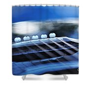 Guitar Abstract 4 Shower Curtain