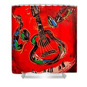 Guitar Jazz Shower Curtain