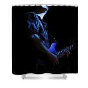 Guitarist In Blue Shower Curtain