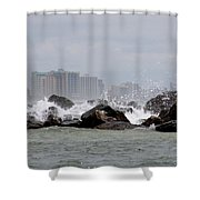 Gulf Of Mexico - More Waves Shower Curtain