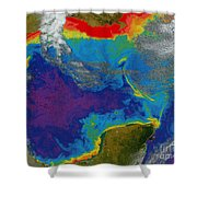 Gulf Of Mexico Dead Zone Shower Curtain by Science Source