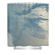 Gulf Of Mexico Oil Spill From Space Shower Curtain