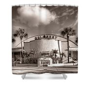 Gulfport Casino In Sepia Shower Curtain
