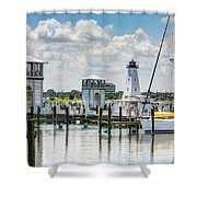 Gulfport Harbor Shower Curtain