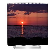 Gulfview Sunset Shower Curtain