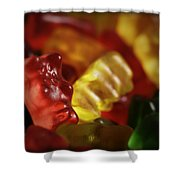 Gummi Bears Shower Curtain by Rick Berk
