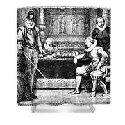 Guy Fawkes, English Soldier Shower Curtain by Photo Researchers