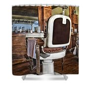 H J Barber Shop Shower Curtain