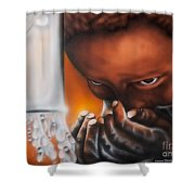 H2ope Run For Water Shower Curtain