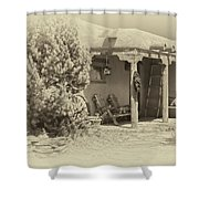 Hacienda Antique Plate Shower Curtain