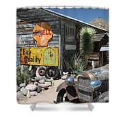 Hackberry Signs   Arizona Route 66 Shower Curtain