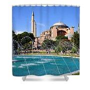 Hagia Sofia In Istanbul Shower Curtain by Artur Bogacki