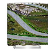 Hairpin Bends In The, Healy Pass, Beara Shower Curtain