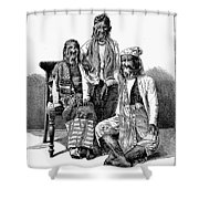 Hairy Faced Burmese Family Shower Curtain