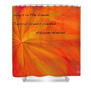 Halcyon Haiku Shower Curtain
