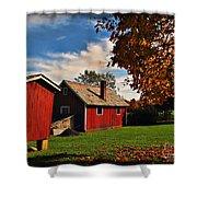 Hale Farm In Autumn Shower Curtain