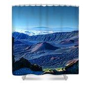 Haleakala Crater 1 Shower Curtain by Ken Smith