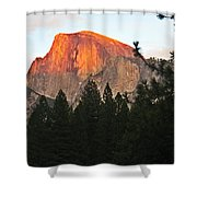 Half Dome Alpenglow Shower Curtain
