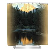 Half Dome At Sunset Shower Curtain