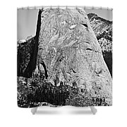 Half Dome Black And White Shower Curtain