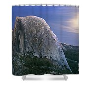 Half Dome Moon Rise Shower Curtain