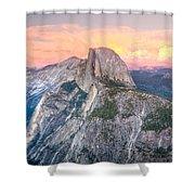 Half Dome Sunset Shower Curtain
