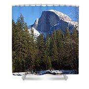 Half Dome Winter Shower Curtain