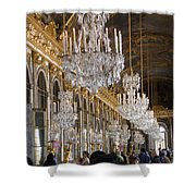 Hall Of Mirrors At Palace Of Versailles France Shower Curtain