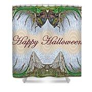 Halloween Fantasmagorical Cicada Card Shower Curtain