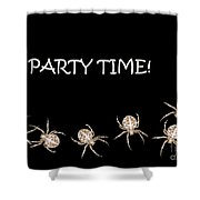 Halloween Greetings. Spider Party Series #01 Shower Curtain