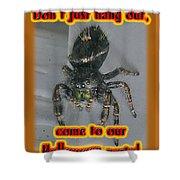 Halloween Party Invitation - Salticid Jumping Spider Shower Curtain