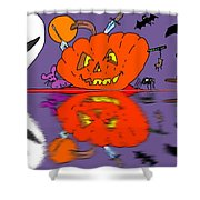 Halloween Reflections Shower Curtain