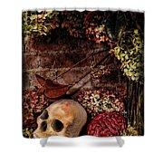 Halloween Still Life Shower Curtain by Joan  Minchak