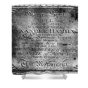 Hamilton: Pamphlet, 1797 Shower Curtain
